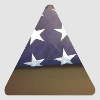 Flag for a fallen hero - blue and white stars stickers