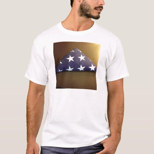 Flag for a fallen hero - blue and white stars T-Shirt