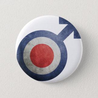 flag France man Pinback Button