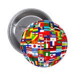 Flag Globe 2 Inch Round Button