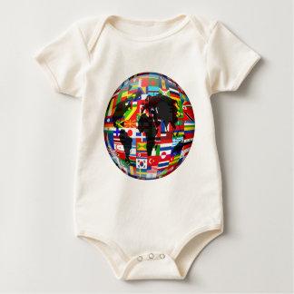 Flag Globe Baby Bodysuit