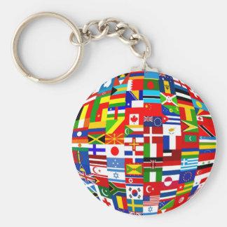 Flag Globe Keychain