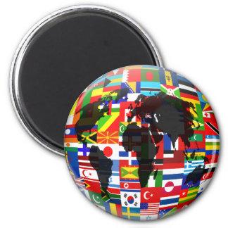 Flag Globe Magnet