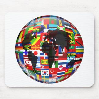 Flag Globe Mouse Pad