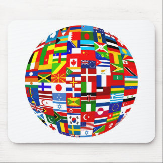 Flag Globe Mouse Pad