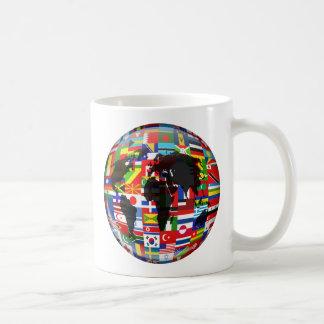 Flag Globe Classic White Coffee Mug