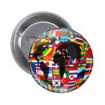 Flag Globe Pinback Button