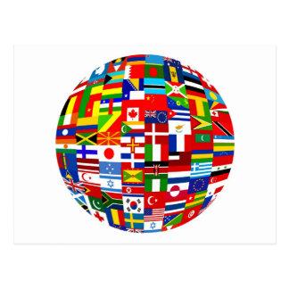 Flag Globe Post Cards
