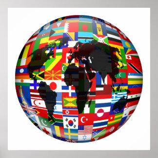 Flag Globe Posters