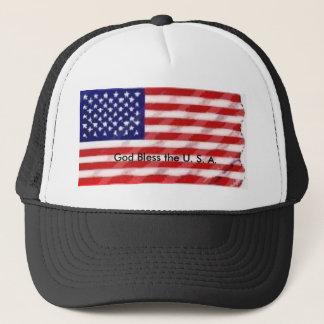 flag, God Bless the U. S. A. Trucker Hat
