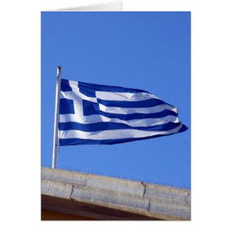 flag greek card