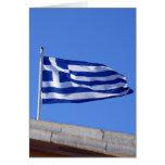 flag greek greeting card