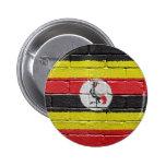 flag_grunge_wall_Uganda Pin