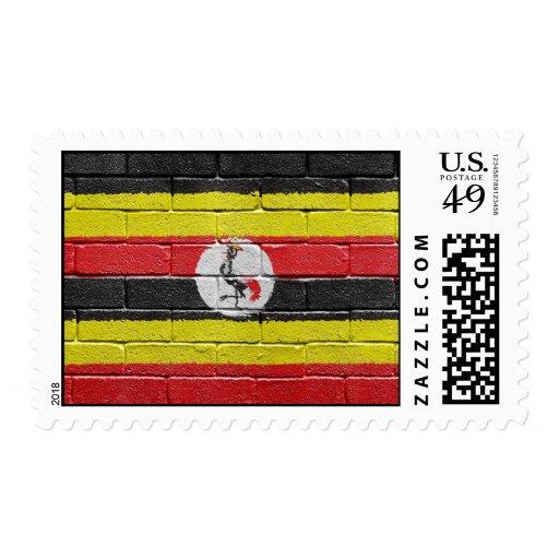 flag_grunge_wall_Uganda Postage