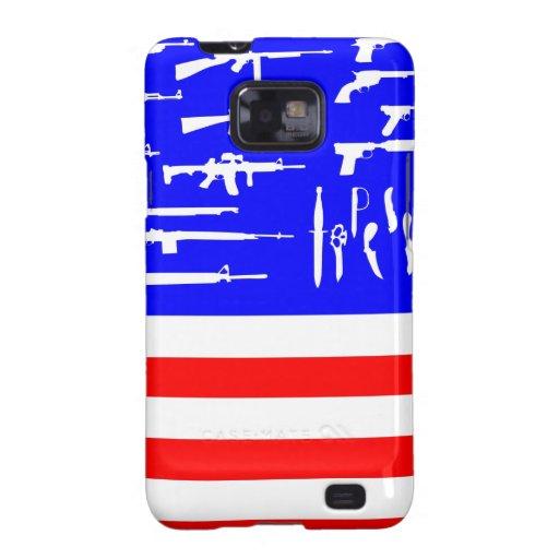 Flag Guns Samsung Galaxy SII Cover