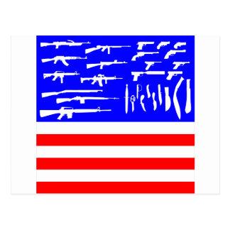 Flag Guns Postcard