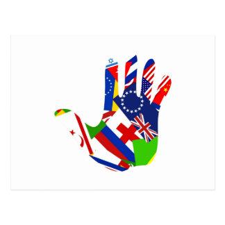 Flag Hand Post Card