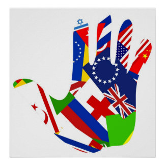 Flag Hand Poster