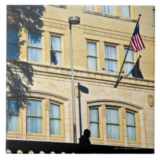 Flag hanging from a building, San Antonio, Ceramic Tile
