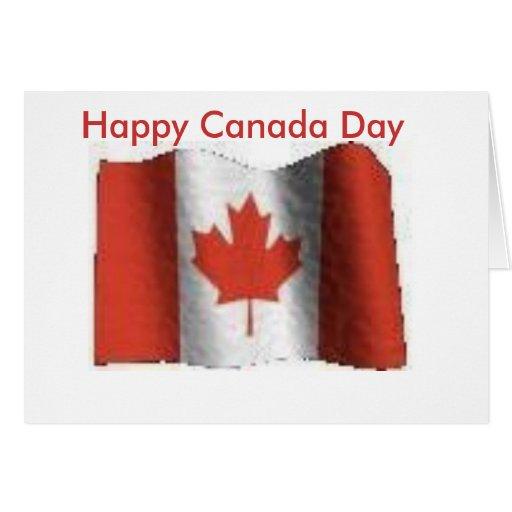 Flag Happy Canada Day Greeting Card Zazzle
