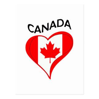 FLAG HEART CANADA POSTCARD