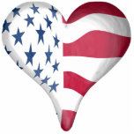 Flag Heart Cut Outs