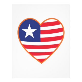 Flag Heart Letterhead