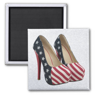 FLAG HIGH HEEL SHOES MAGNET