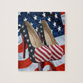 FLAG HIGH HEEL SHOES PUZZLE