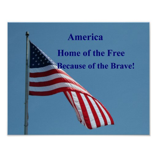 Flag, Home of the free, poster