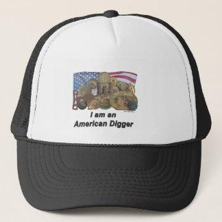 Flag I am an American Digger Trucker Hat