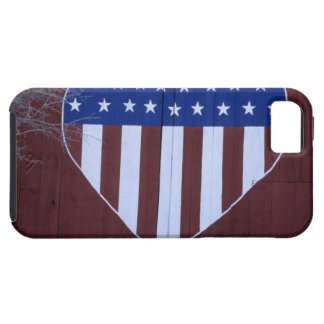 Flag in heart shape painted on barn after 9-11. iPhone 5 covers