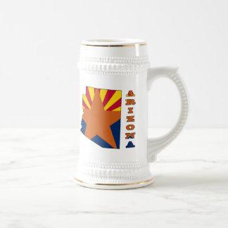 Flag in Map Arizona Beer Stein