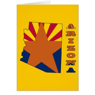 Flag in Map Arizona Card