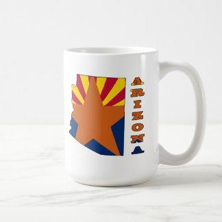 Flag in Map Arizona Coffee Mug