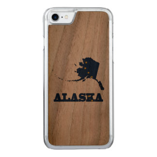 Flag in Map of Alaska Carved iPhone 8/7 Case