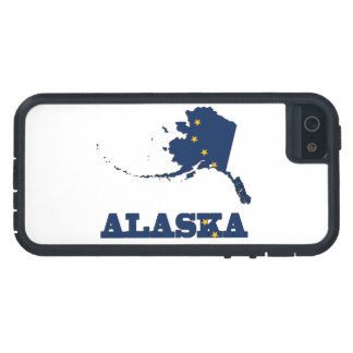 Flag in Map of Alaska Cover For iPhone 5