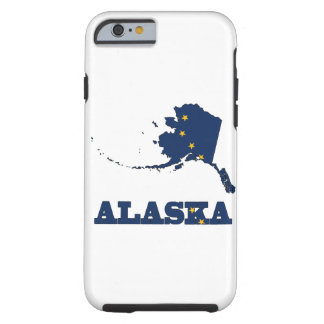 Flag in Map of Alaska Tough iPhone 6 Case