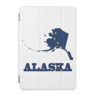 Flag in Map of Alaska iPad Mini Cover