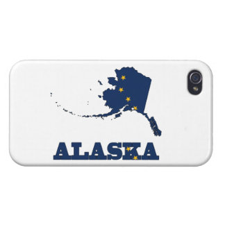 Flag in Map of Alaska iPhone 4 Case