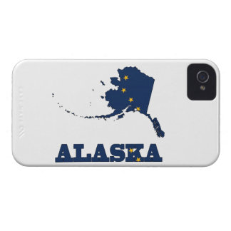 Flag in Map of Alaska iPhone 4 Case-Mate Case