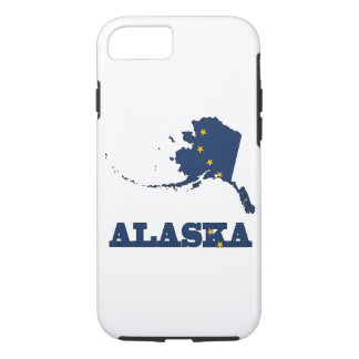 Flag in Map of Alaska iPhone 7 Case