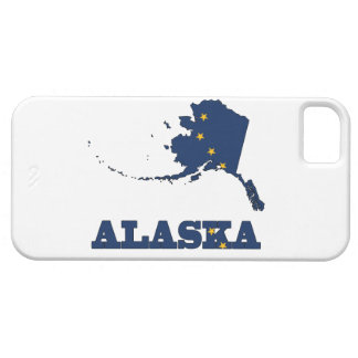 Flag in map of Alaska iPhone SE/5/5s Case