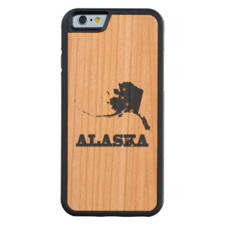 Flag in Map of Alaska Carved® Cherry iPhone 6 Bumper Case