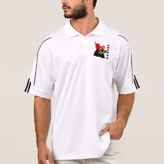 Flag in Map of Angola Polo Shirt