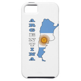 Flag in Map of Argentina iPhone 5 Cover