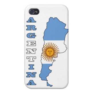 Flag in Map of Argentina Cover For iPhone 4