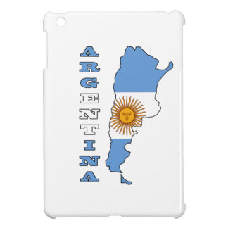 Flag in Map of Argentina Cover For The iPad Mini