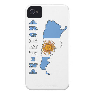 Flag in Map of Argentina iPhone 4 Case