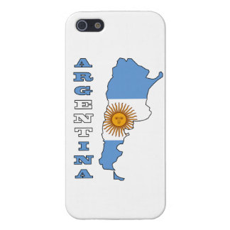 Flag in Map of Argentina iPhone 5/5S Covers